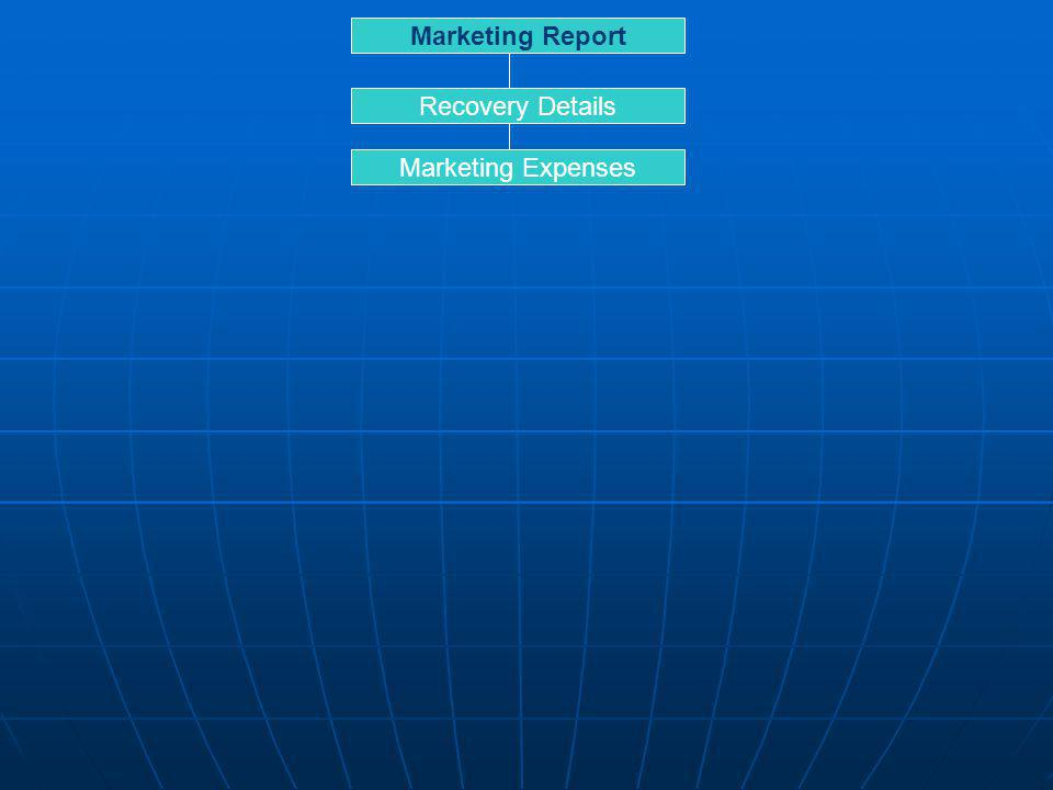 Marketing Report Recovery Details Marketing Expenses