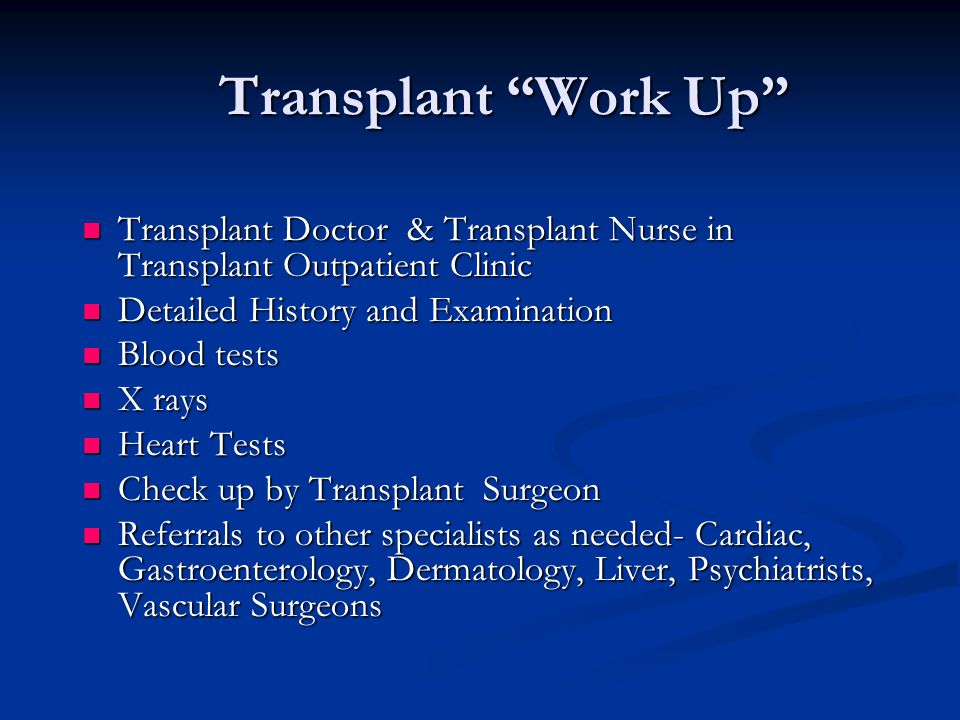 Transplant Work Up Transplant Doctor & Transplant Nurse in Transplant Outpatient Clinic. Detailed History and Examination.