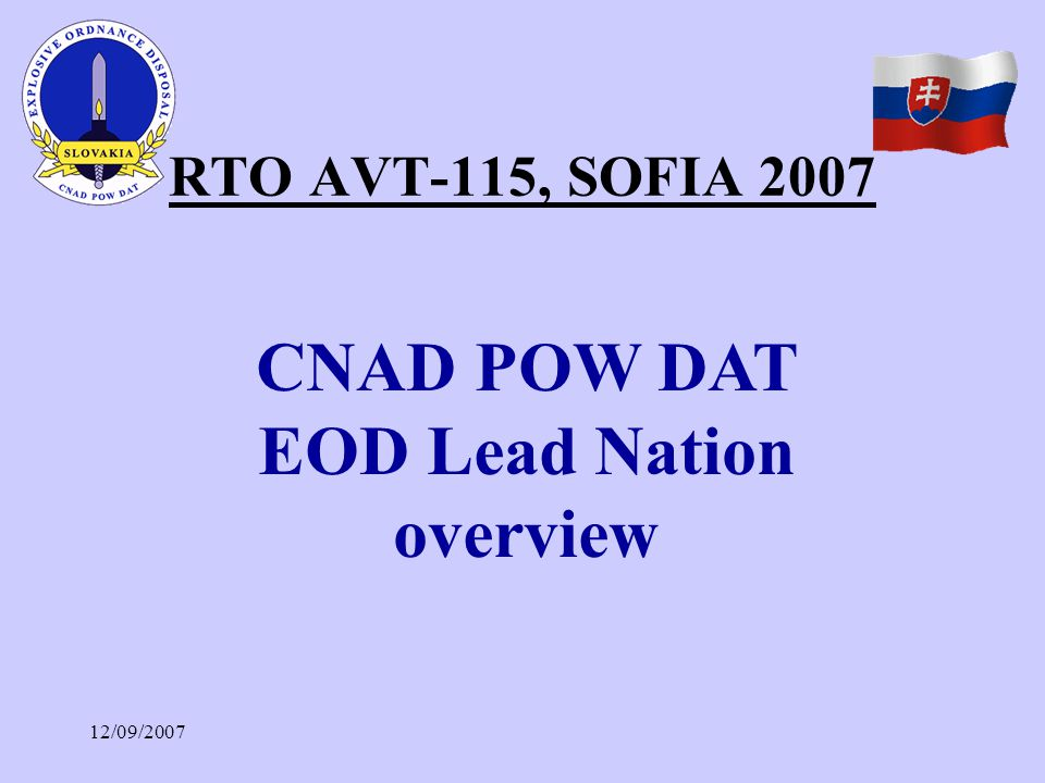 CNAD POW DAT EOD Lead Nation overview