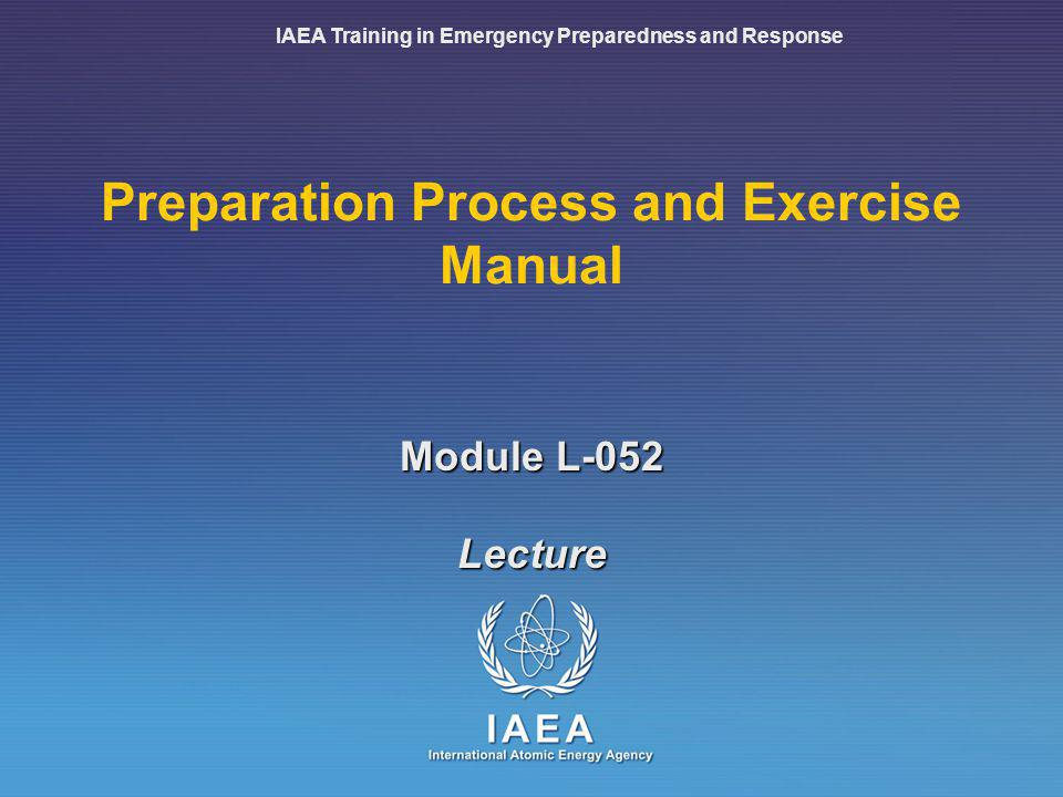Preparation Process and Exercise Manual