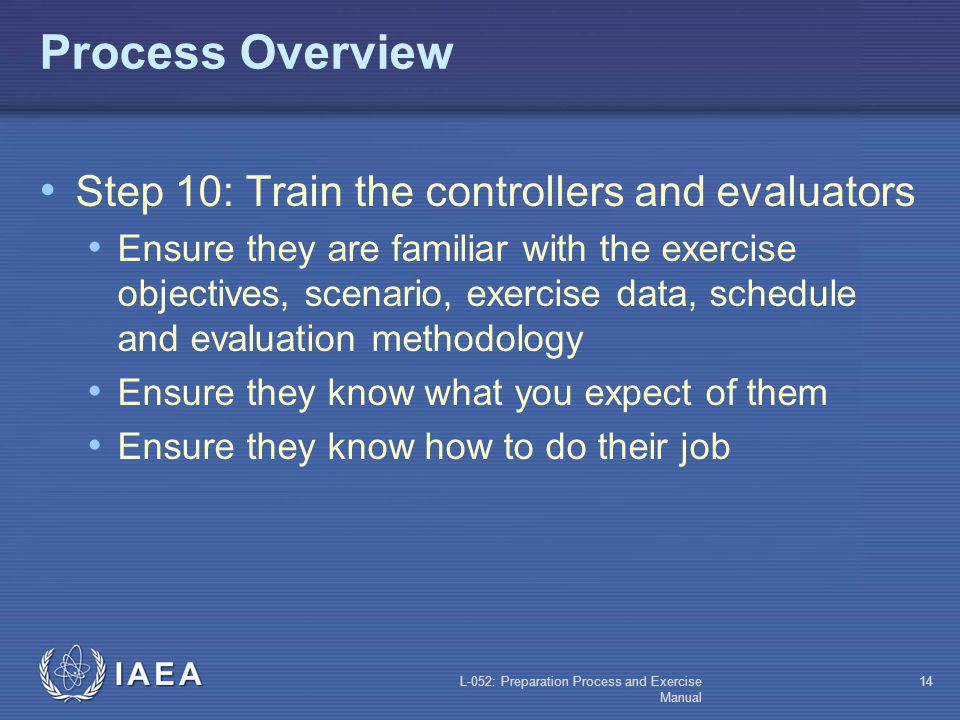 Process Overview Step 10: Train the controllers and evaluators