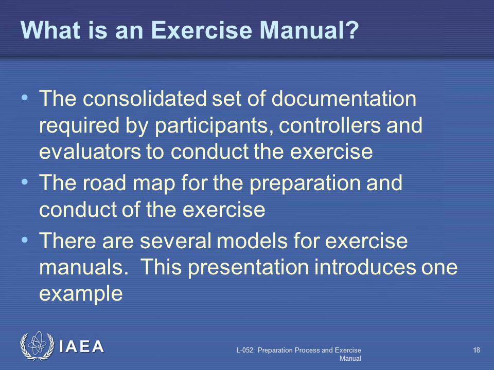 What is an Exercise Manual