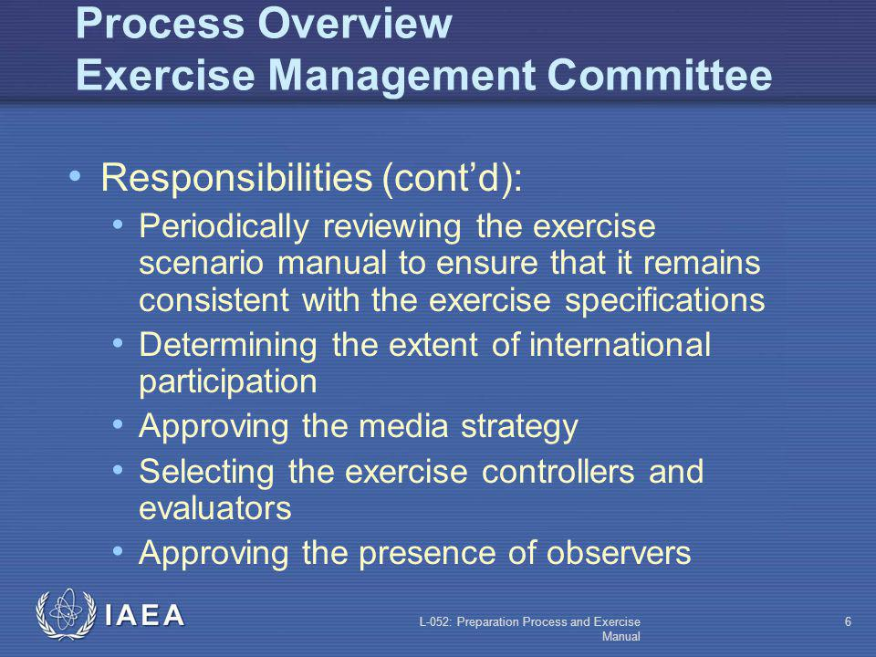 Process Overview Exercise Management Committee