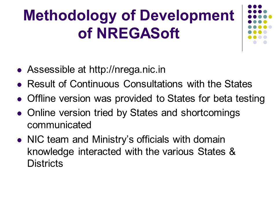 Methodology of Development of NREGASoft