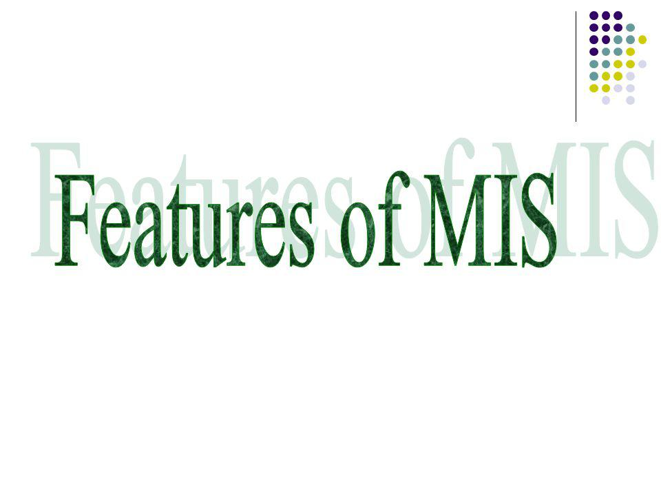 Features of MIS
