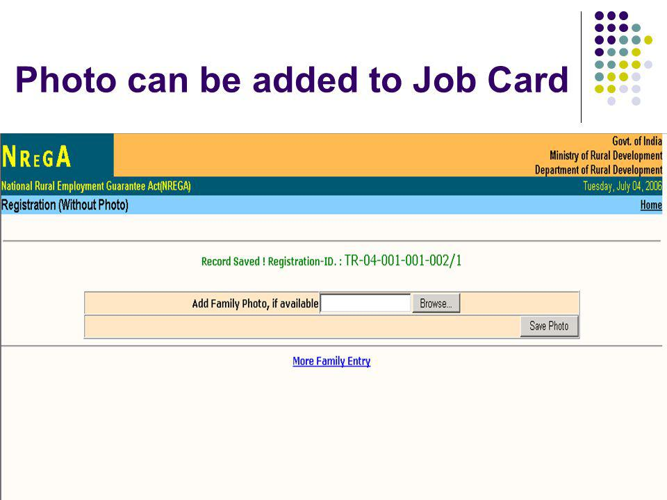 Photo can be added to Job Card