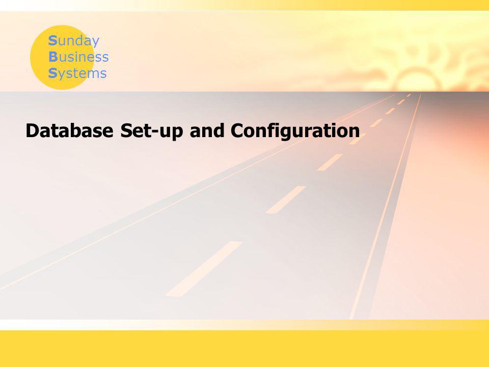 Database Set-up and Configuration