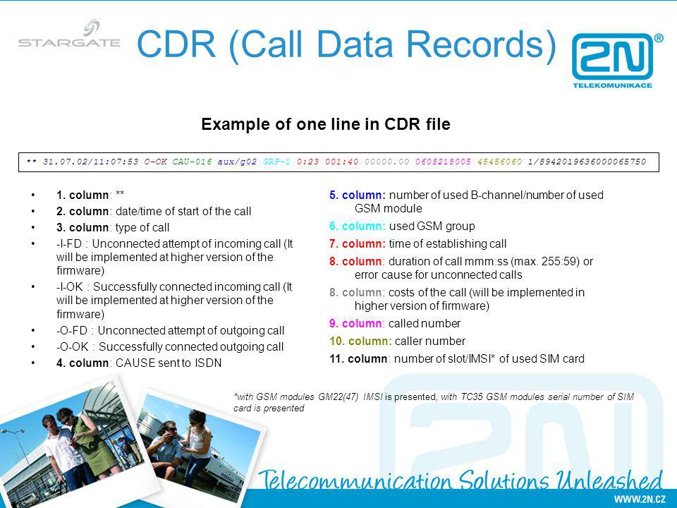 CDR (Call Data Records)