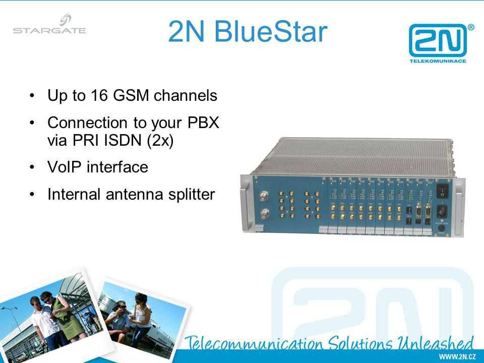 2N BlueStar Up to 16 GSM channels