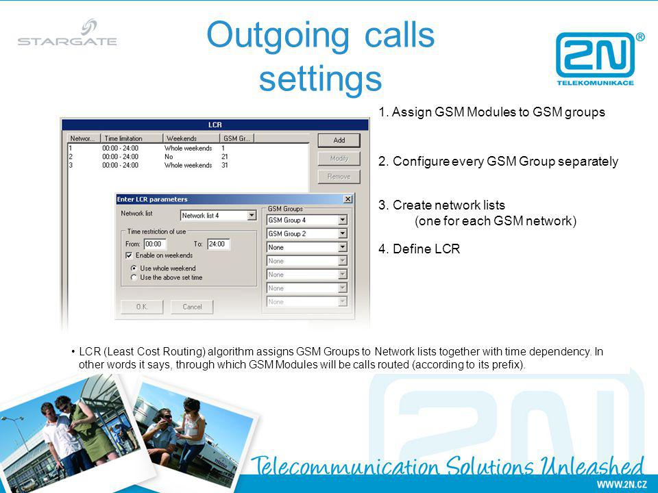 Outgoing calls settings