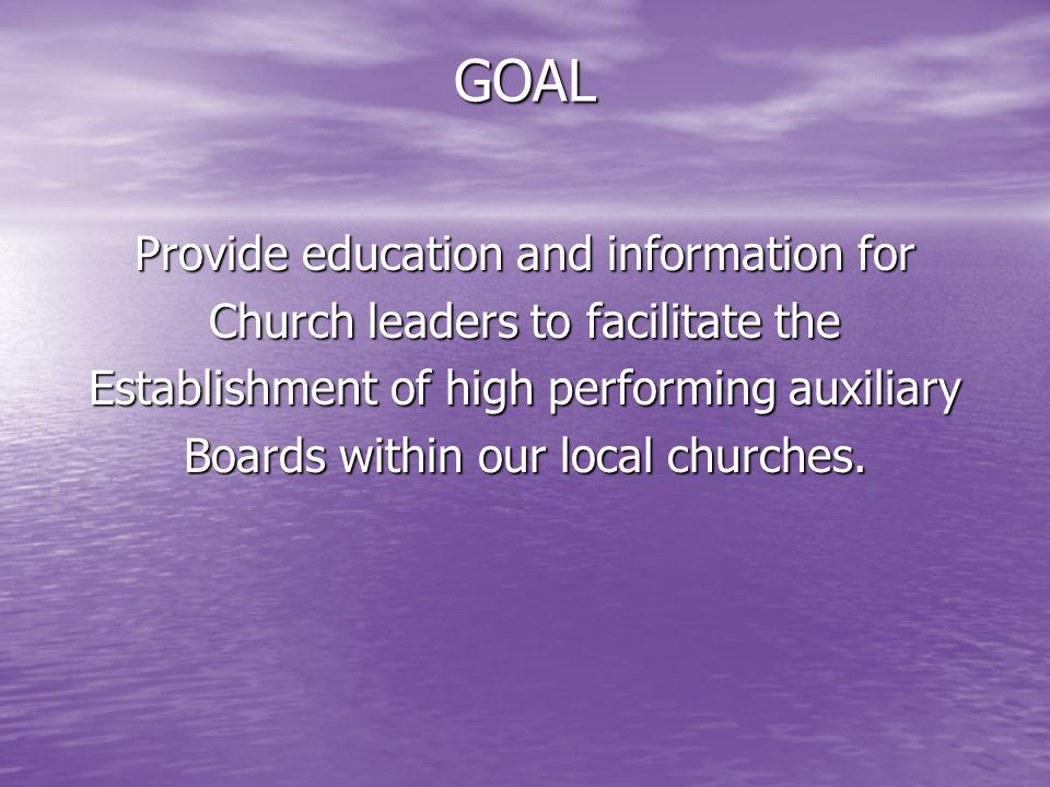 GOAL Provide education and information for