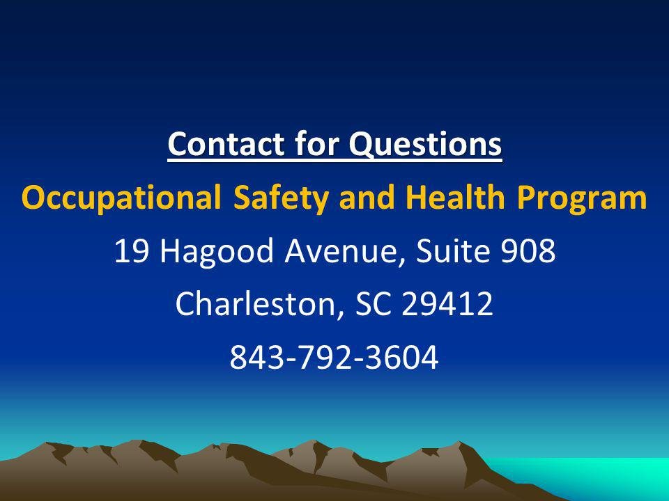 Occupational Safety and Health Program