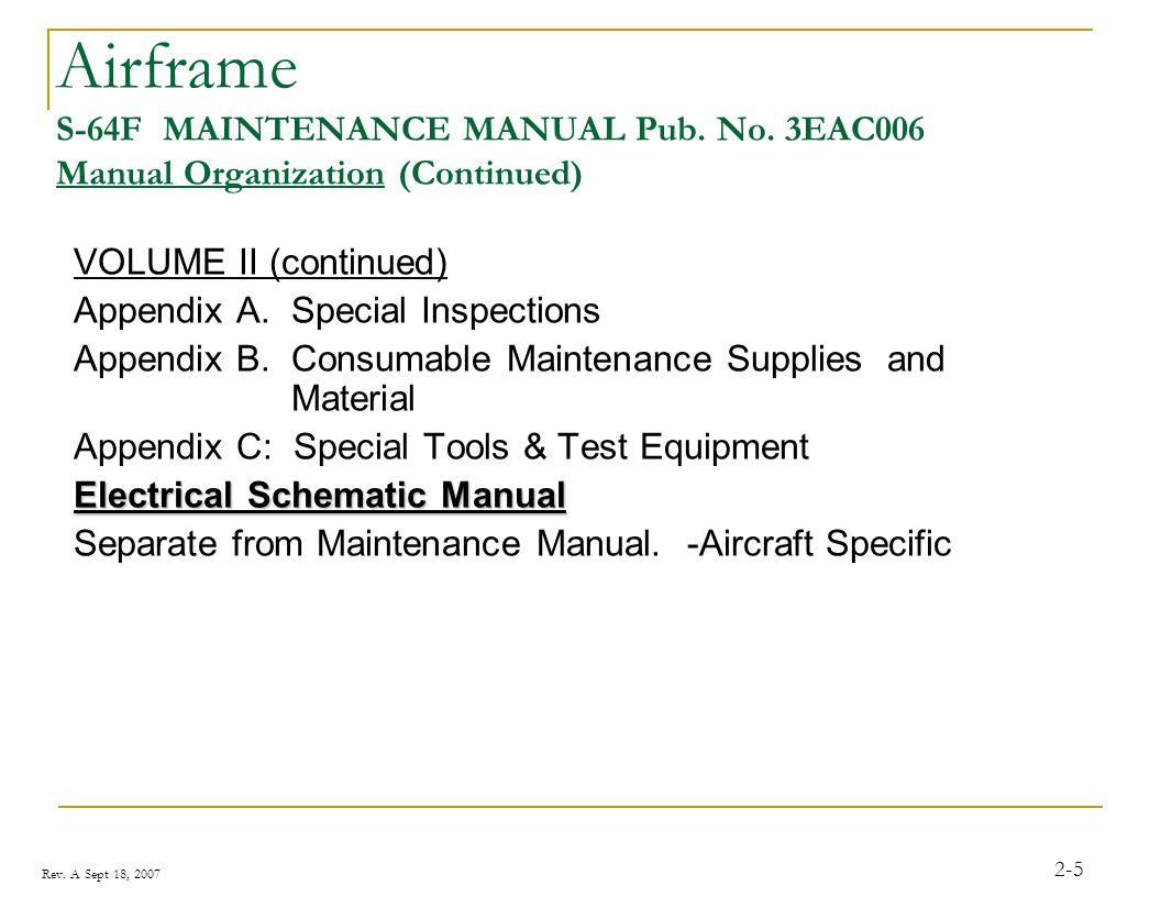 Airframe S-64F MAINTENANCE MANUAL Pub. No