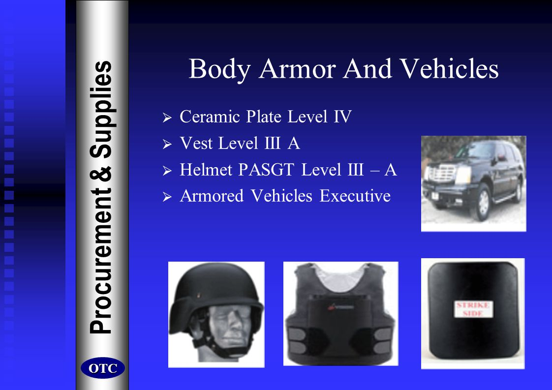 Body Armor And Vehicles