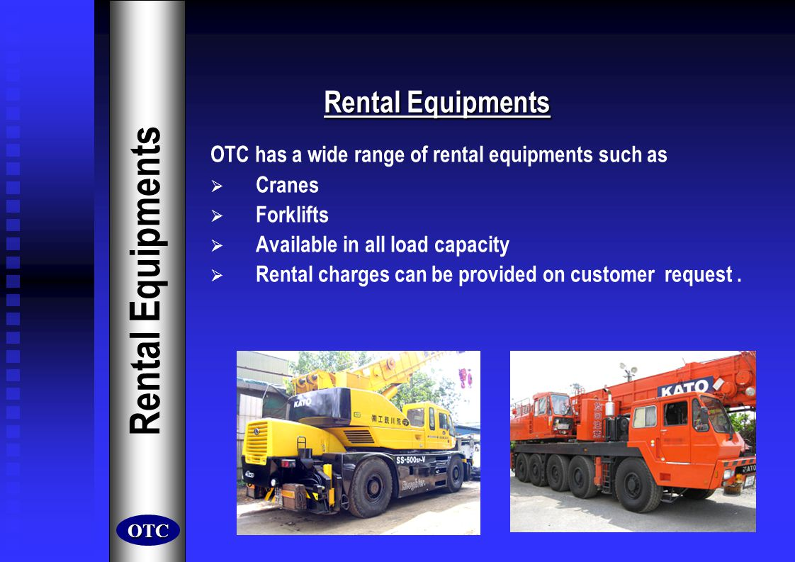 Rental Equipments Rental Equipments
