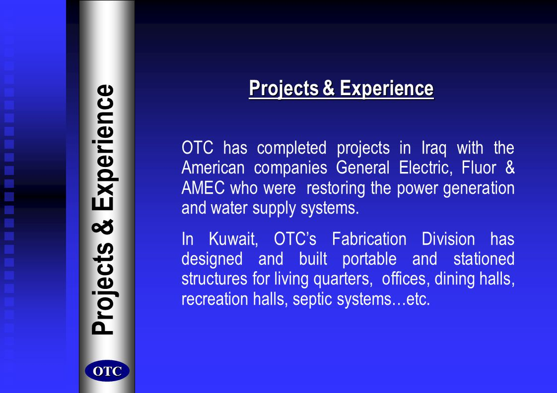 Projects & Experience Projects & Experience