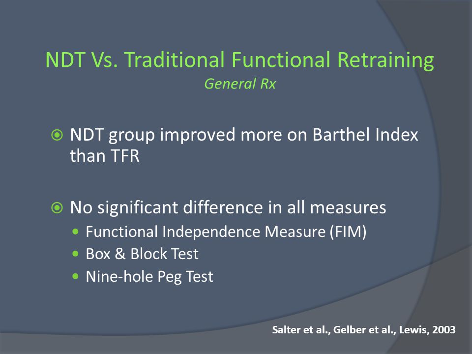 NDT Vs. Traditional Functional Retraining General Rx