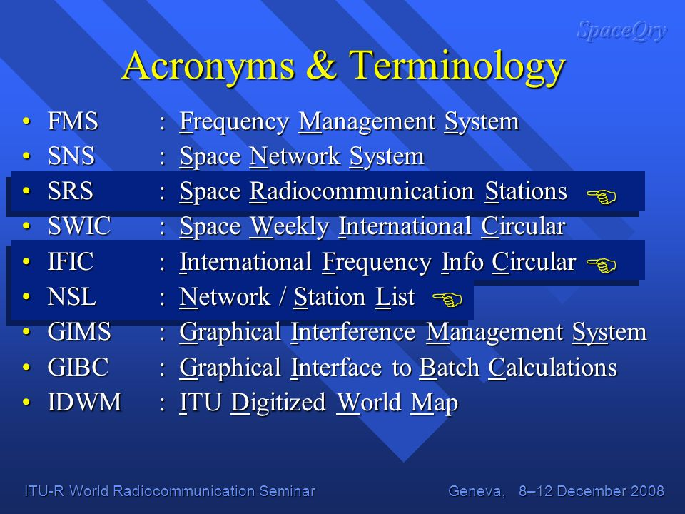 Acronyms & Terminology