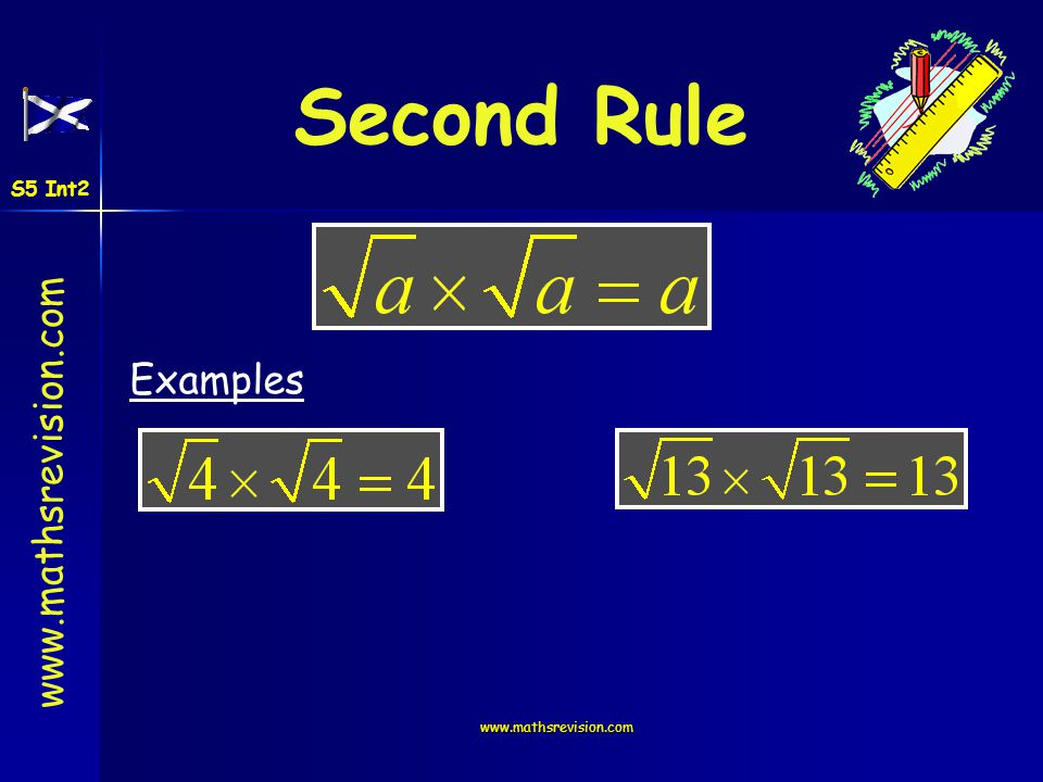 Second Rule S5 Int2 Examples www.mathsrevision.com