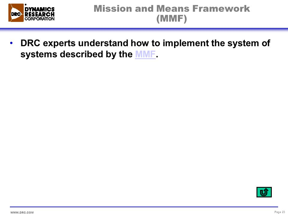 Mission and Means Framework (MMF)
