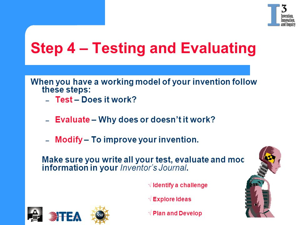 Step 4 – Testing and Evaluating