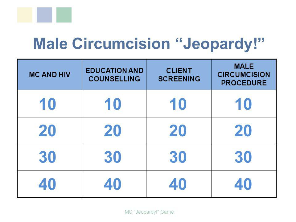 Male Circumcision Jeopardy!