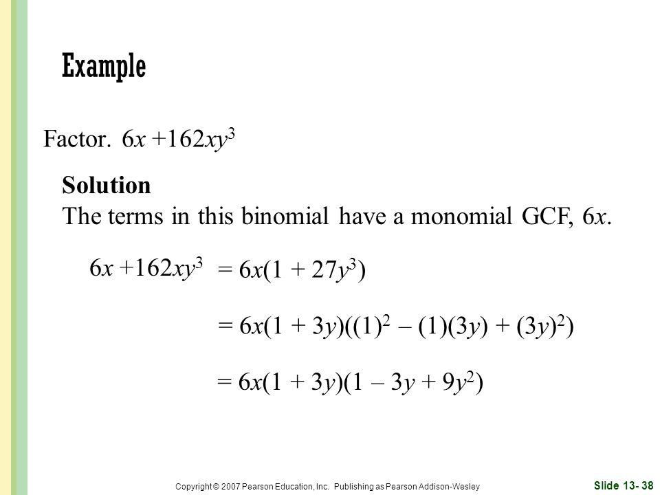 = 6x(1 + 3y)((1)2 – (1)(3y) + (3y)2)
