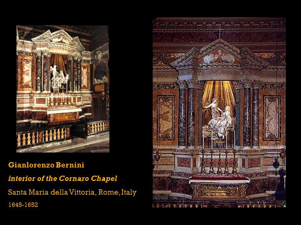 interior of the Cornaro Chapel Santa Maria della Vittoria, Rome, Italy