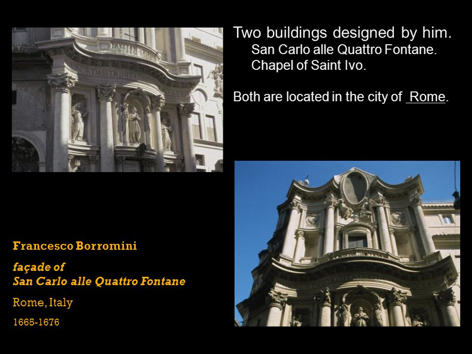 Two buildings designed by him.