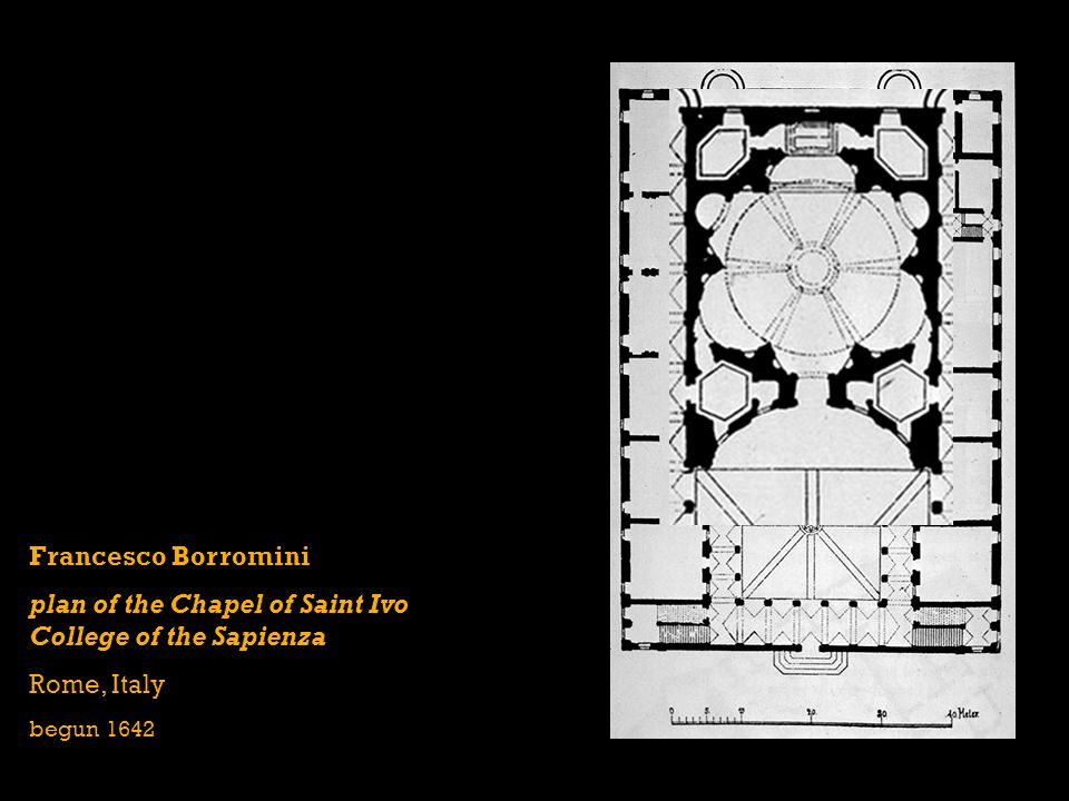 plan of the Chapel of Saint Ivo College of the Sapienza
