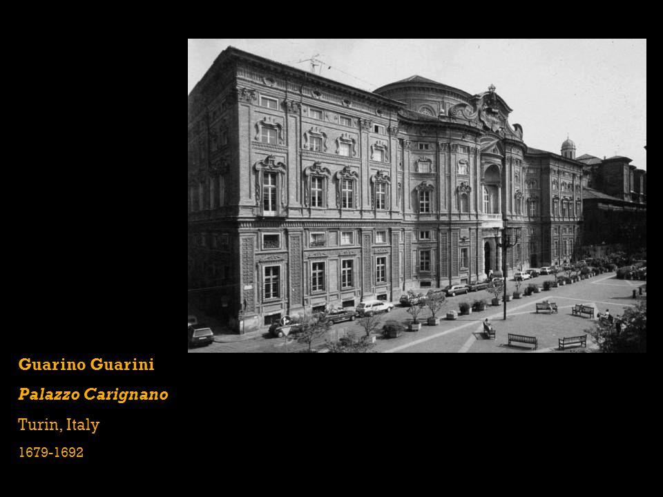 Guarino Guarini Palazzo Carignano Turin, Italy 1679-1692
