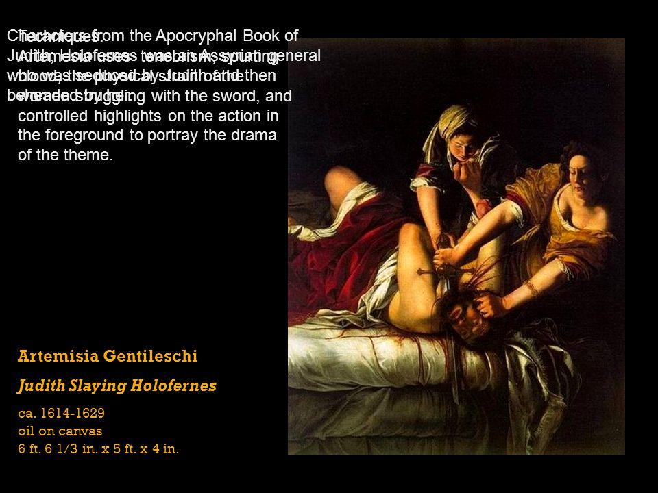 Artemisia Gentileschi Judith Slaying Holofernes