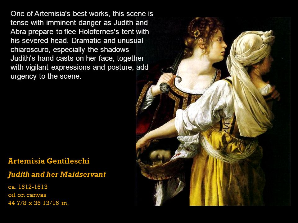 Artemisia Gentileschi Judith and her Maidservant