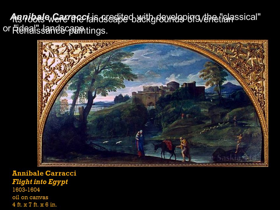 Annibale Carracci is credited with developing the classical or ideal landscape