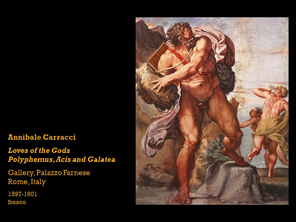 Loves of the Gods Polyphemus, Acis and Galatea