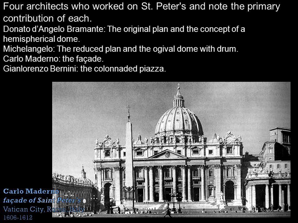 Four architects who worked on St