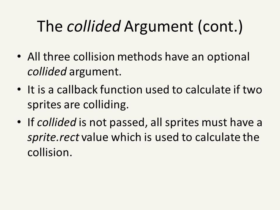 The collided Argument (cont.)