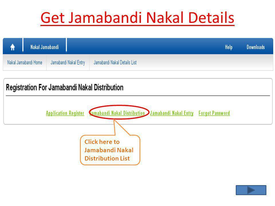 Get Jamabandi Nakal Details