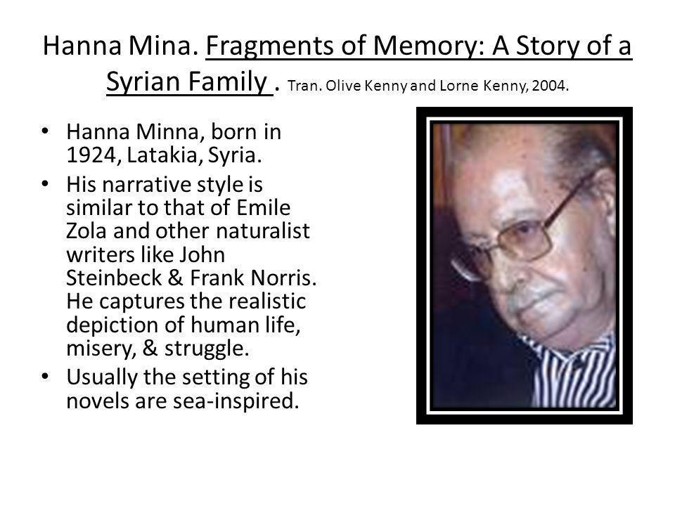 Hanna Mina. Fragments of Memory: A Story of a Syrian Family. Tran