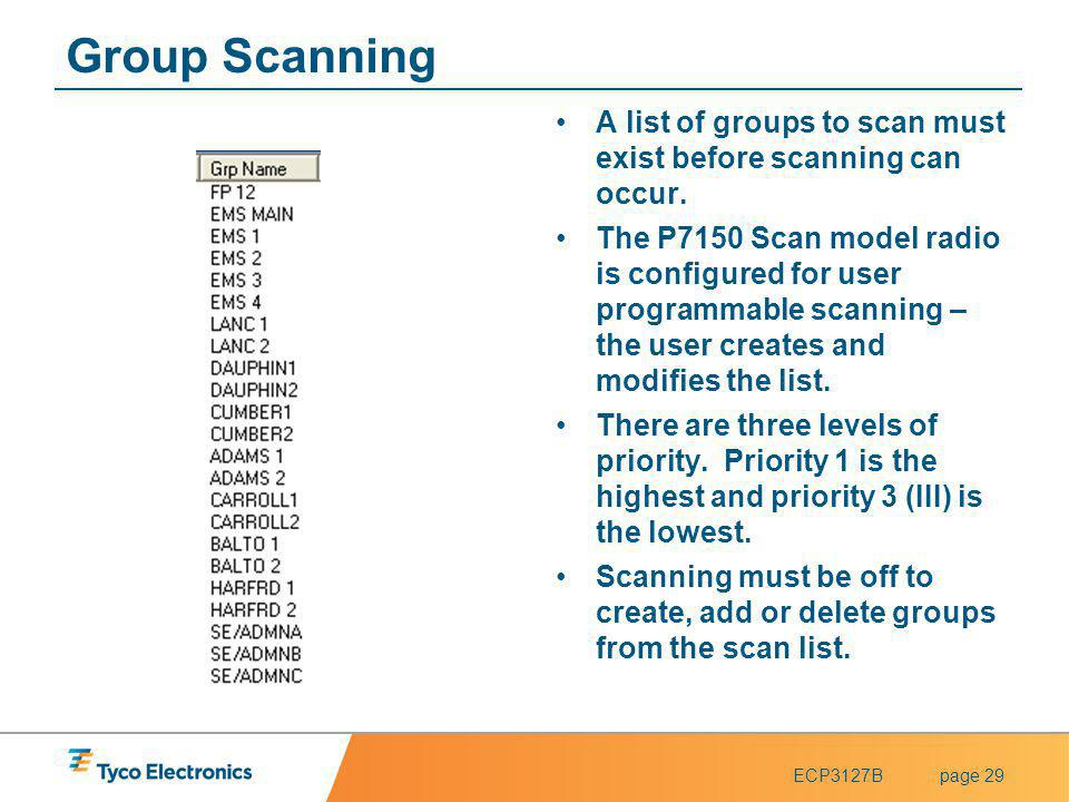 Group Scanning A list of groups to scan must exist before scanning can occur.