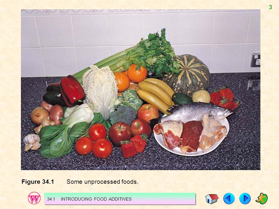 Figure 34.1 Some unprocessed foods.