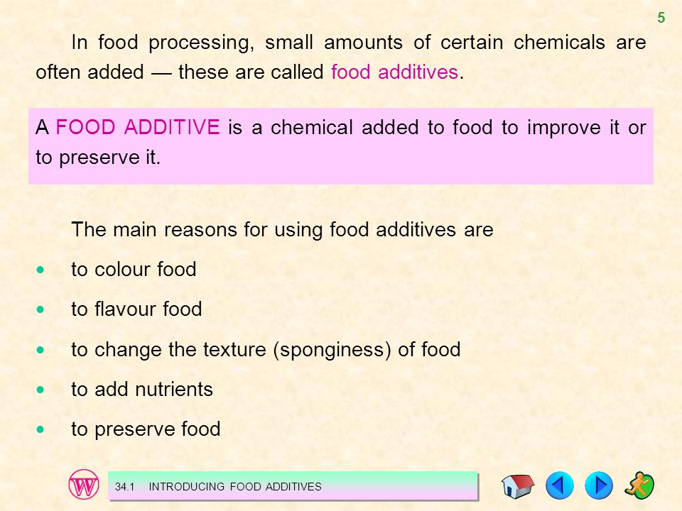 The main reasons for using food additives are  to colour food