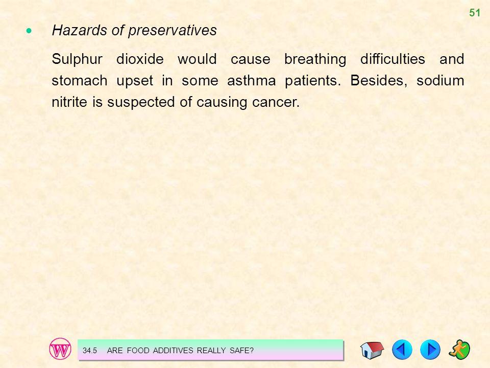  Hazards of preservatives