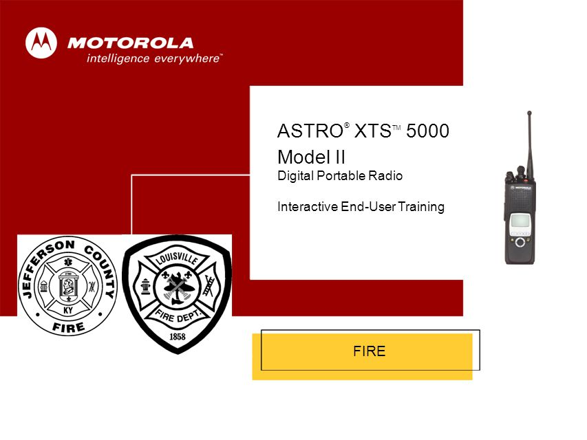 ASTRO® XTSTM 5000 Model II Cover FIRE Digital Portable Radio