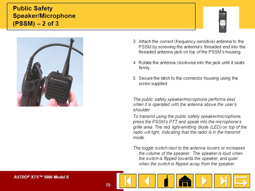 Public Safety Speaker/Microphone (PSSM) – 2 of 3