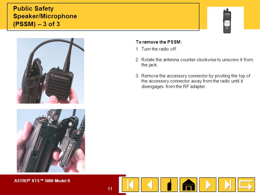 Public Safety Speaker/Microphone (PSSM) – 3 of 3