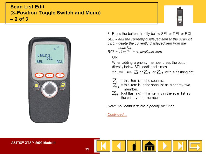 Scan List Edit (3-Position Toggle Switch and Menu) – 2 of 3