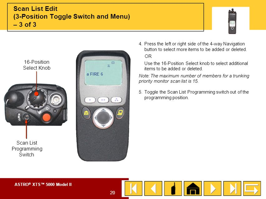 Scan List Edit (3-Position Toggle Switch and Menu) – 3 of 3