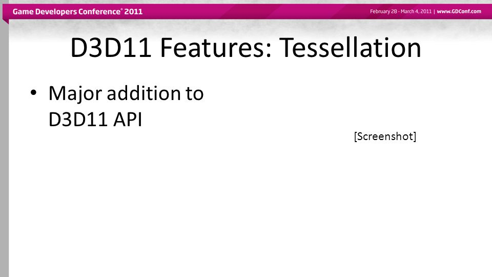 D3D11 Features: Tessellation