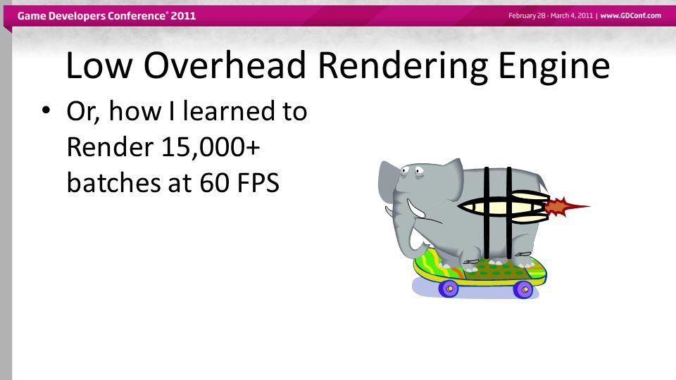 Low Overhead Rendering Engine